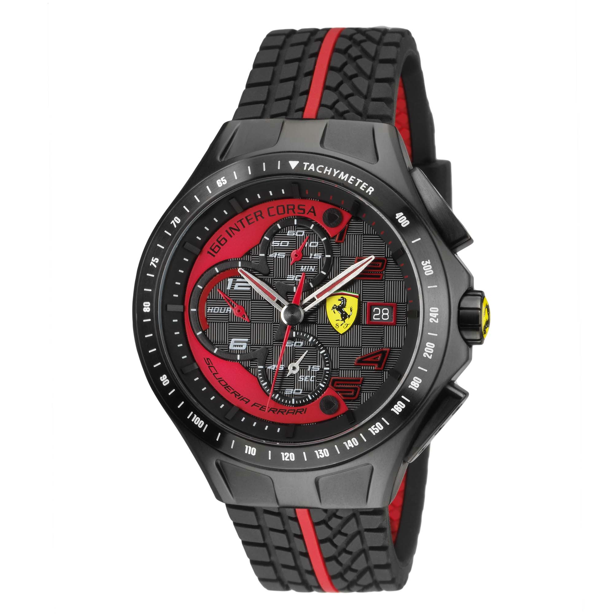 Replica ferrari watch with red colored dial best swiss breitling replica watches show for Replica watches
