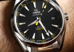 Review Replica Omega Seamaster Aqua Rerra 150M With Yellow Minute Mark