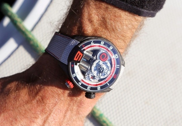 Replica HYT H4 Alinghi Special Edition Watch Is Washed In A Brilliant White Light