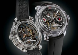 Presenting The Greubel Forsey's New Double Tourbillon 30° Technique Sapphire Replica Watch