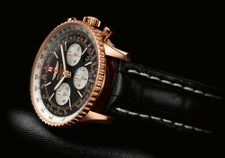 Breitling Aviation Chronograph Replica Watches With Rose Golden Cases For Men