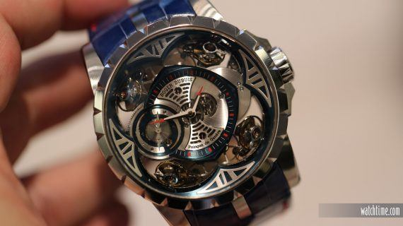 Hands-On With Roger Dubuis Excalibur Quatuor Cobalt MicroMelt Men's Replica