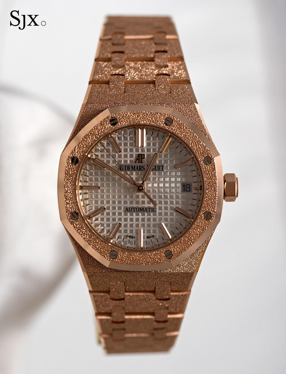 AP Royal Oak Frosted Gold pink gold 1