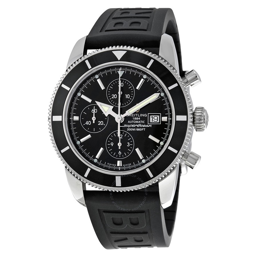 Breitling Superocean Heritage Automatic Chronograph Black Dial Black Rubber Men's Watch A1332024-B908BKPD3